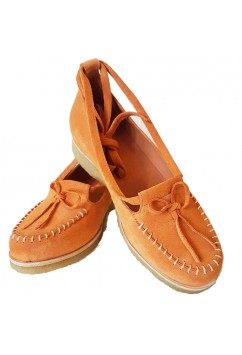 Grace Orange Suede Crepe Sole