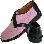 Arrow Pink Suede Black Leather