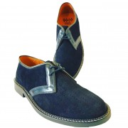 Arrow Navy Suede Navy Leather