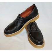 Shark Black Leather Crepe Sole