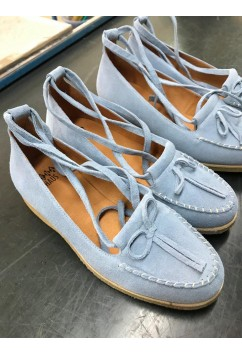 Grace Light BLue Suede Crepe Sole