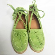Grace Light Green Suede Crepe Sole